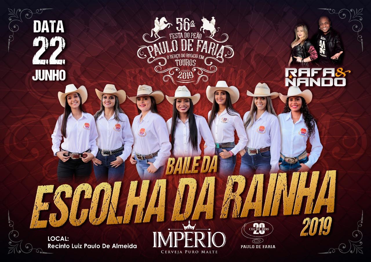 BAILE DA ESCOLHA DA RAINHA DE PAULO DE FARIA